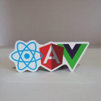Angular React Vue Sticker | codemonzy.com