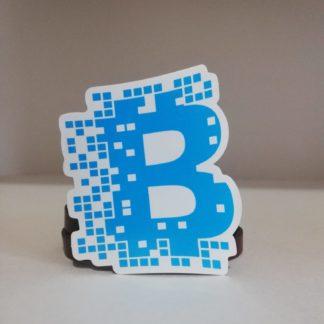 Bitcoin Mavi sticker | codemonzy.com
