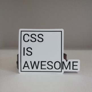 CSS is Awesome sticker | codemonzy.com