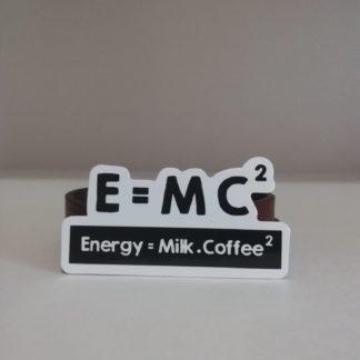 Energy Milk Coffee Sticker | codemonzy.com