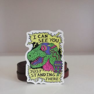 I can see you , Just standing there! Sticker | codemonzy.com