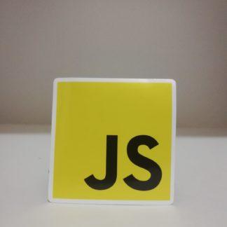 javascript logo kare sticker | codemonzy.com
