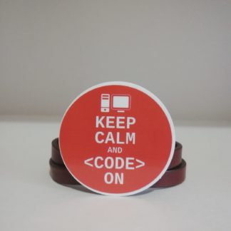 keep calm and code on sticker | codemonzy.com