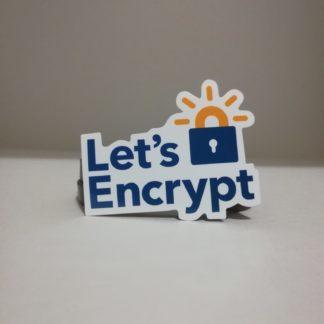 Let's Encrypt Sticker | codemonzy.com