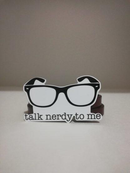 talk nerdy to me sticker | codemonzy.com