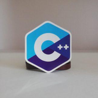 C++ Mavi Küçük Sticker | codemonzy.com