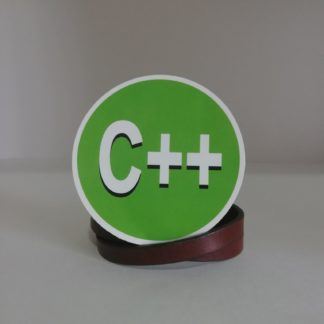 C++ Yeşil Sticker | codemonzy.com
