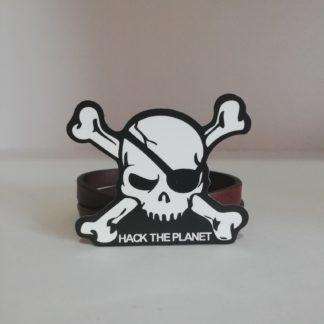 Hack the Planet Skull Sticker | codemonzy.com