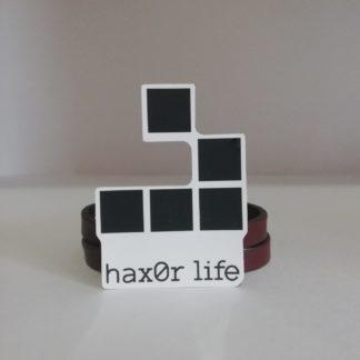 hax0r life Sticker | codemonzy.com