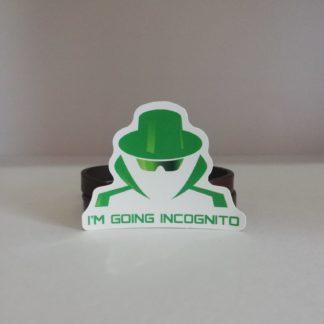 I'am Going Incognito Sticker | codemonzy.com