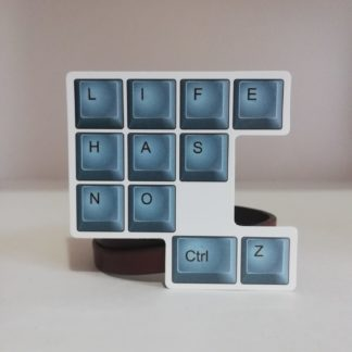 life has no ztrl+z mavi sticker | codemonzy.com