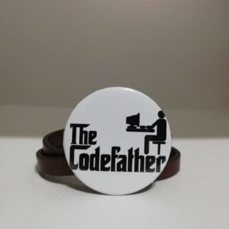 the codefather rozet - codemonzy.com - yazılımcı rozet