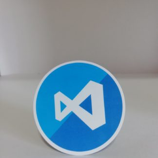 Visual Studio Yuvarlak Mavi Sticker | codemonzy.com