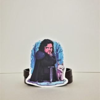 Jon Snow and Ghost #3 Sticker | codemonzy.com