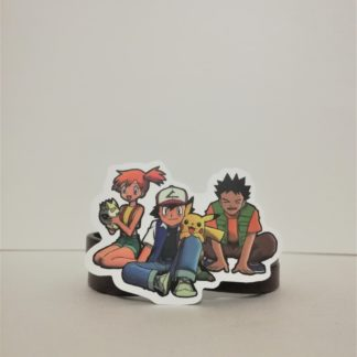 Ash, Misty ve Brock - Pokemon Sticker | codemonzy.com