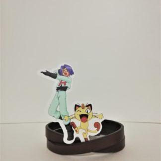 James ve Meowth - Pokemon Sticker | codemonzy.com