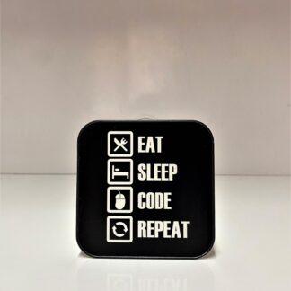 Eat Sleep Code Repeat Bardak Altlığı